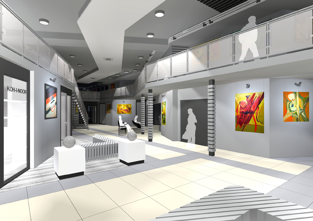 D Exhibition : Projects interior design national exhibition center